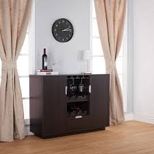 Locking Liquor Cabinet Amazon by Amazon Com Furniture Of America Mendocino Wine Cabinet Buffet