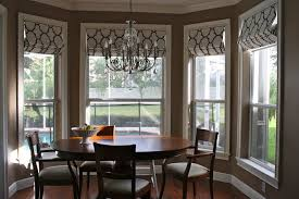 Endearing Shades And Blinds For Bay Window Decoration Home Interior Ideas Amusing Dining