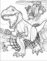 Superb Lego Coloring Pages Jurassic World With Park And