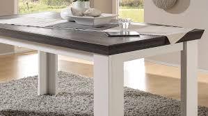 esstisch tiena tisch in pinie weiß und wenge haptik 159 cm
