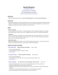 Sample Resume Objectives For Web Developer Valid Medical Objective Examples Of Resumes