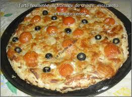 tarte feuilletée au fromage de chèvre mozzarella et tomate cerise