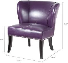 Madison Park Hilton Accent Chairs - Hardwood, Plywood, Wing Back, Deep Seat  Bedroom Lounge Modern Classic Style Living Room Sofa Furniture, Plum