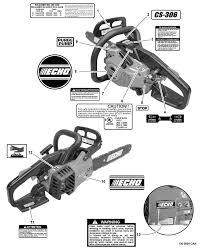 Echo Bed Redefiner by Echo Cs 306 C09413001001 C09413999999 Chain Saw Labels Diagram
