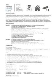 Security Guard Resume Template 3