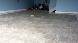 Removing Grout Haze From Porcelain Tile by A Porcelain Tile Garage Floor Installation And Review All Garage