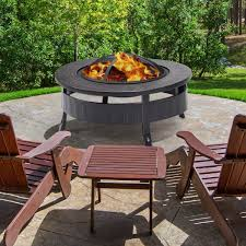Iron Wood Burning Fire Pit In 2019 Outdoor Area Wood Burning