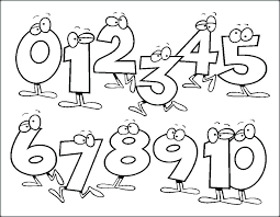 Number Coloring Pages For Kids Printable 1 Shopkins
