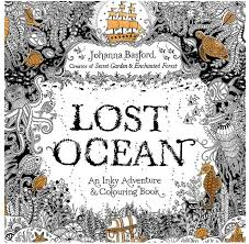 24 Pages New Lost Ocean Inky Adventure Coloring Book For Children Adult Relieve Stress Kill Time