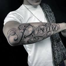 Script Cursive Mens Different Outer Forearm Name Tattoo