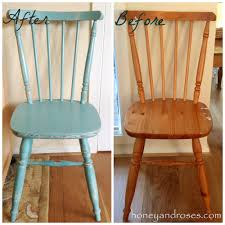 Makeover of a Pine Kitchen Chair using Chalk Paint  HONEY & ROSES
