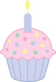 Pink Birthday Cupcake Clipart Free Clip Art