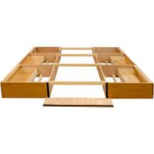 oak drawer pedestal platform bed queen king california king