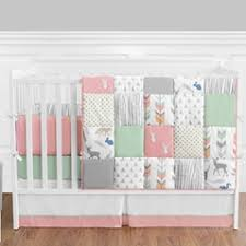 Solid Color Crib Bedding in Pink Blue & More