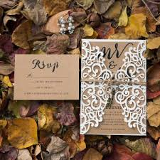 Elegant Rustic Ivory Laser Cut Wedding Invitations With Twines And Key EWWS220