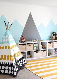 The Party Parade Has Their Own Version Of A DIY Mountain Mural And We Love It Soft As Sunrise This Easy Paint Project Is About Layers