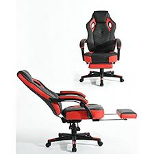 Reclining Gaming Chair With Footrest by Amazon Com Acepro Reclining Chair Executive Racing Style Gaming