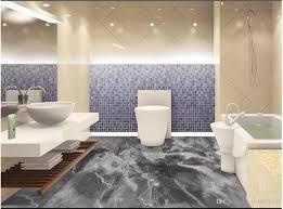 großhandel großhandels bilderboden tapete grau marmor badezimmer 3d boden pvc selbstklebend bodentapeten tapete dekor malerei a1048874333 16 42