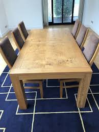 100 6 Oak Dining Table With Chairs Furniture Land SOLID 7ft LARGE In