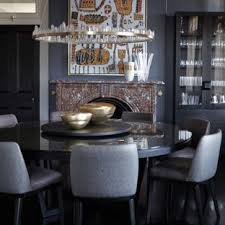 Inspiration For An Eclectic Separate Dining Room In Other With Grey Walls Painted Wood Floors