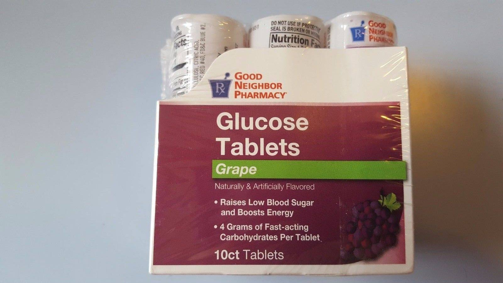 GNP Glucose Tablets Grape 6x10ct