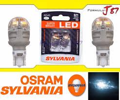 sylvania zevo led light bulb 921 t16 white 6000k back up