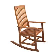 Acacia Wood Outdoor Patio Rocking Chair