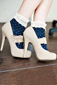 Socks Cute Hipster High Heels Vintage Girly Nice Outfit