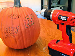 Halloween Pumpkin Carving With Drill by Decorella Carving Pumpkins With Power Tools