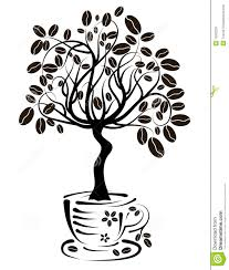Download Coffee Tree In A Cup Vector Stock