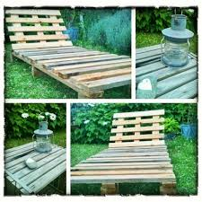 chaise longue palette 5 projets en palette pour le jardin