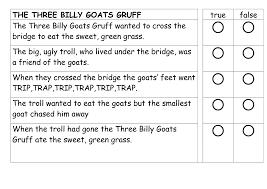 3 Billy Goats Gruff Activities Printable