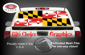 100 Truck Caps Maryland Flag Rear Window Graphic Tint Decal Sticker SUV Etsy