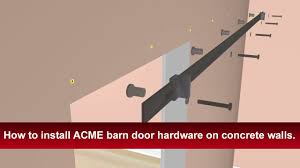 How To Install Renin's Barn Door Hardware Into Concrete Walls ... Bypass Sliding Barn Door Frosted Glass Panel Doors Sliding Barn Door Interior Installation Photos Of Custom Hdware Hex Bar By Basin How To Install A Simple Step Tutorial Youtube Itructions Modern Home Installing Doors For Novalinea Bagni Tips Ideas Interesting Pocket For Your Austin Build And Install A Video Diy Flat Track Axel Krownlab Lowes Bathrooms Design Bathroom Creative And Diy
