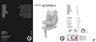 siege auto concord ultimax isofix concord ultimax user manual