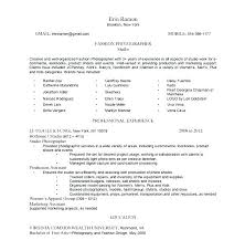 Photography Resume Objective Examples Sample