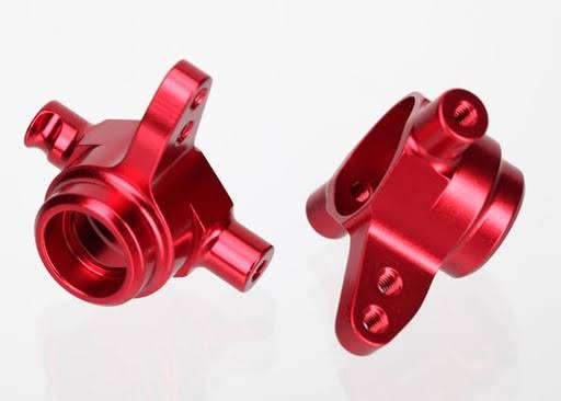 Traxxas Steering Blocks Aluminum Left/Right Red-Anodized