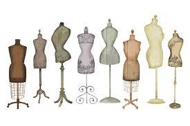 Vintage Dress Form Clip Art