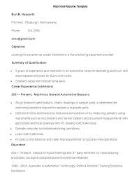 Cnc Machinist Resume Pdf Example Examples Sample Template Cover Letter Outside Skil