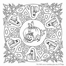 Scarecrow Coloring Page See More Another Halloween Mandala