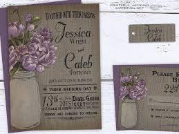 Rustic Mason Jar Wedding Invitation Summer Printable
