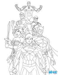 JUSTICE LEAGUE Of AMERICA Coloring Page Color Online Print