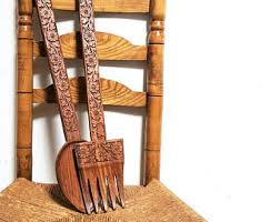 Wood Fork And Spoon Wall Hanging by Wood Fork Etsy