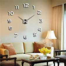 moderne horloge acryl 3d diy wand uhr quarznadel uhr spiegel oberfläche wohnzimmer große aufkleber dekorative