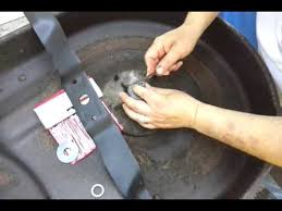 03 murray riding mower spindle bearing blade change part 2 youtube