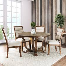 Furniture Of America Wenslow 5 Piece Rustic Round Dining Table Set ... 5 Pc Small Kitchen Table And Chairs Setround 4 Beautiful White Round Homesfeed 3 Pc 2 Shop The Gray Barn Spring Mount 5piece Ding Set With Cm3556undtoplioodwithmirrordingtabletpresso Kaitlin Miami Direct Fniture Upholstered Chair By Liberty Wolf Of America Wenslow Piece Rustic Alpine Newberry 54 In Salvaged Grey Art Inc Saint Germain 5piece Marble Set 6 Chairs Tables