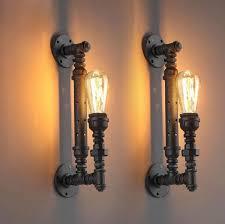 retro loft jahrgang industrielle glanz eisen wasserleitung edison wandleuchte le bad neben schlafzimmer wohnkultur moderne beleuchtung