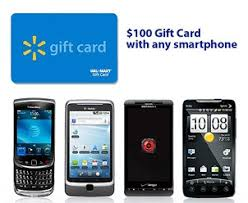 $100 Walmart Gift Card with Smartphone Purchase