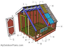 Saltbox Shed Plans 10x12 by 10x12 Greenhouse Shed Roof Plans Myoutdoorplans Free