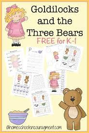 Goldilocks The Three Bears Free Printable